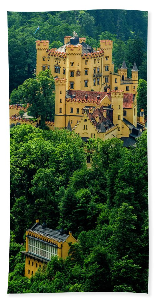 Castle Beach Towel featuring the photograph Castle Hohenschwangau by Wolfgang Stocker