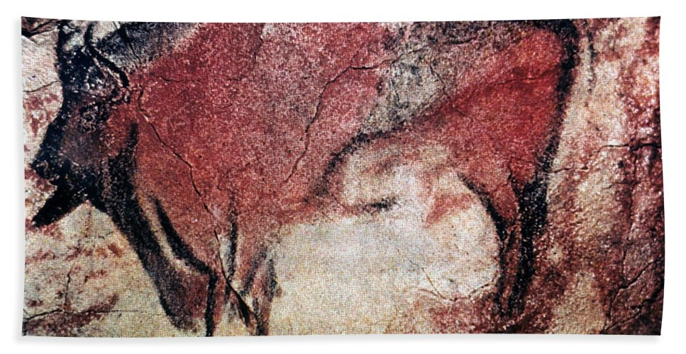 10000 Beach Towel featuring the photograph Cave Art by Granger