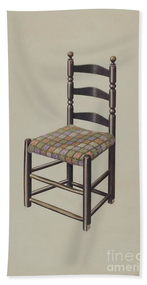 Beach Towel featuring the drawing Chair by John Sullivan