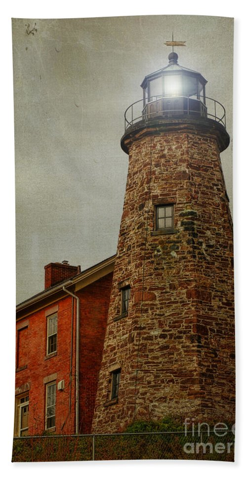 Lighthouse Beach Towel featuring the photograph Charlotte Genesee Lighthouse by Joel Witmeyer
