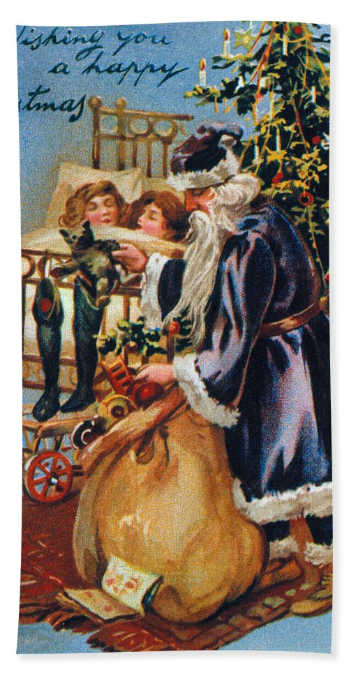 19th Century Beach Towel featuring the photograph Christmas Card by Granger