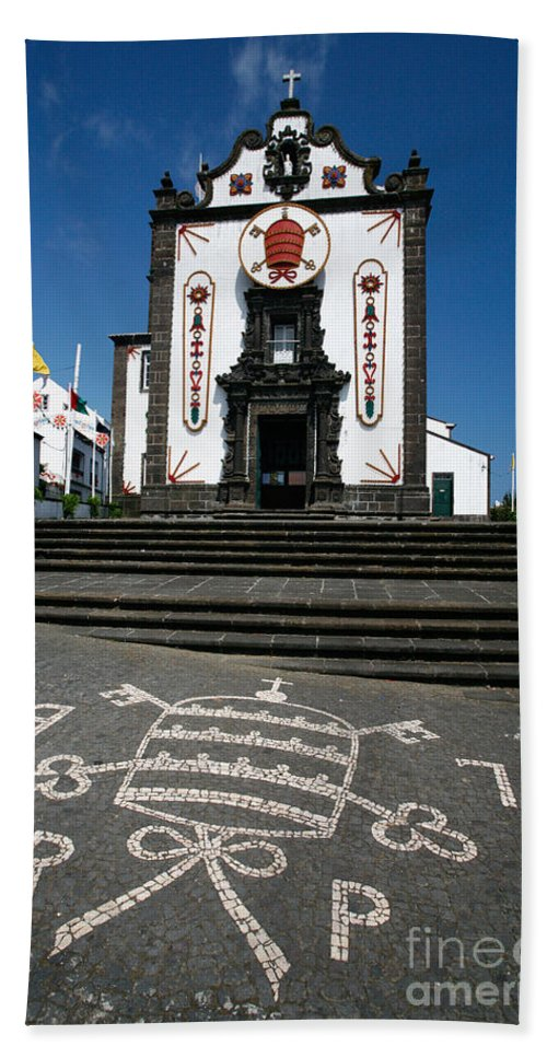 Architecture Beach Sheet featuring the photograph Church In The Azores by Gaspar Avila