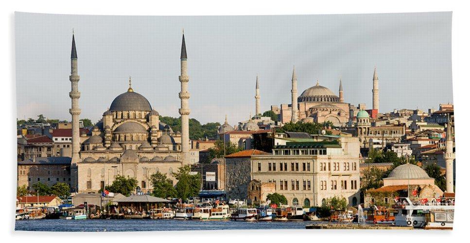 Landmark Beach Towel featuring the photograph City Of Istanbul by Artur Bogacki