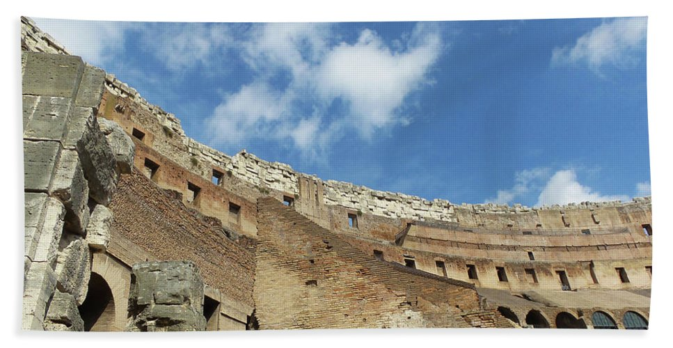 Sky Beach Towel featuring the photograph Colosseum - Rome Italy by Royce A Owens