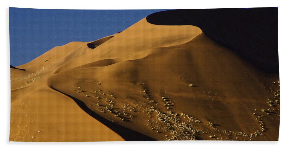 Africa Beach Towel featuring the photograph Contours Of Sossusvlei by Michele Burgess