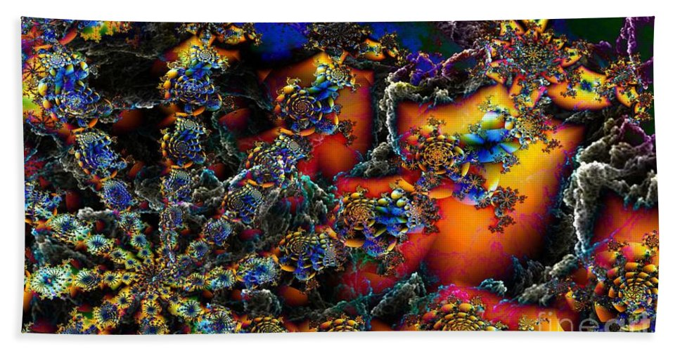 Digital Beach Towel featuring the digital art Coral Reef by Ron Bissett