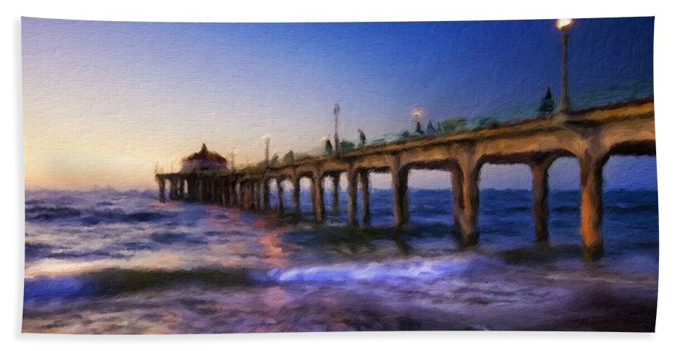 Art Beach Towel featuring the digital art Country Landscapes by Malinda Spaulding