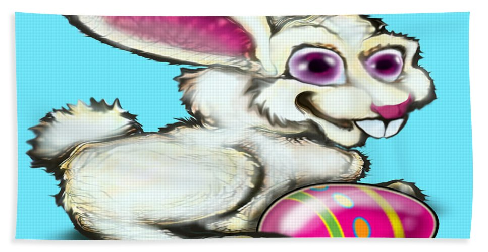 Easter Beach Towel featuring the digital art Easter Bunny by Kevin Middleton