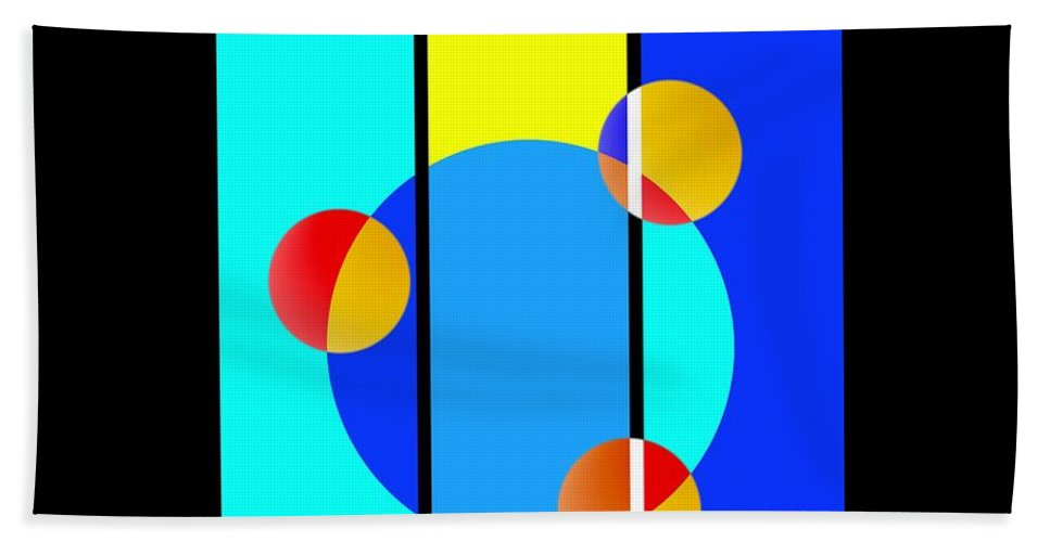 Primary Colors Beach Towel featuring the painting Eclipse by Charles Stuart