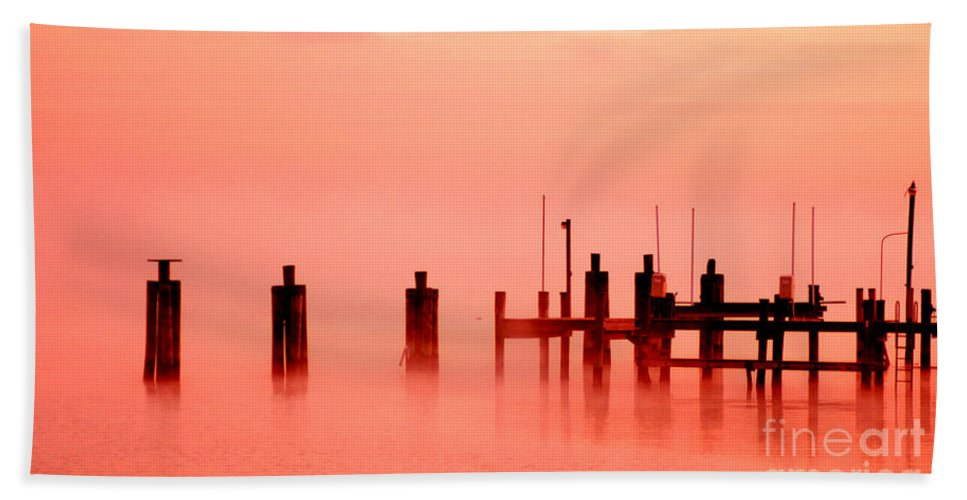 Clay Beach Sheet featuring the photograph Eery Morn' by Clayton Bruster