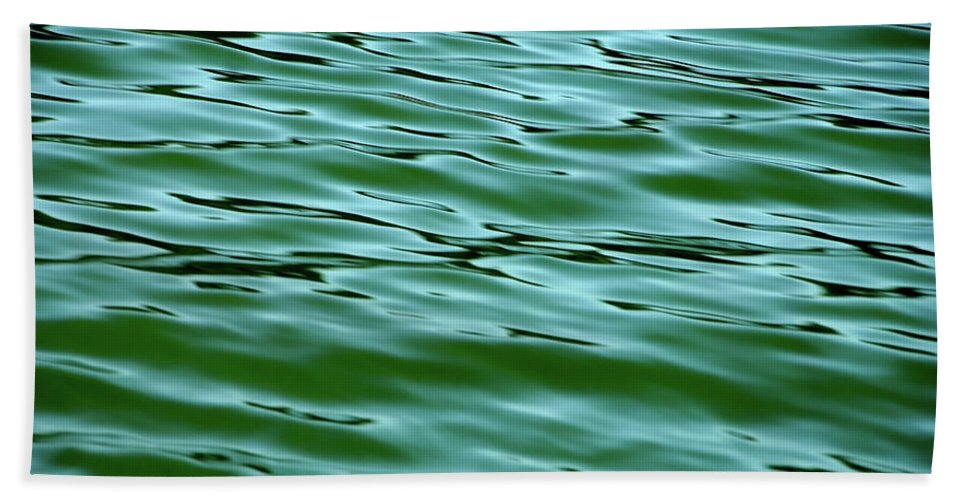 Water Beach Towel featuring the photograph Emerald Sea by Donna Blackhall
