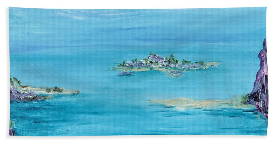 Ethereal Beach Towel featuring the painting Ethereal by Regina Valluzzi