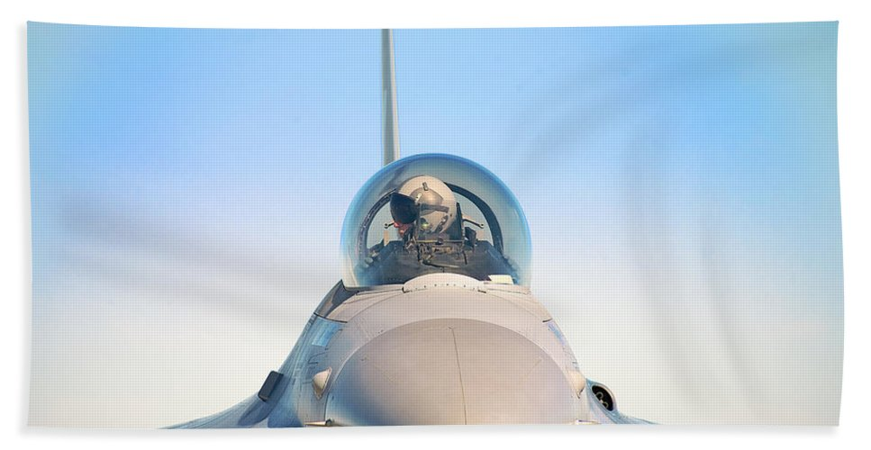 F-16 Fighting Falcon Beach Towel featuring the photograph F-16 Fighting Falcon by Bruce Beck