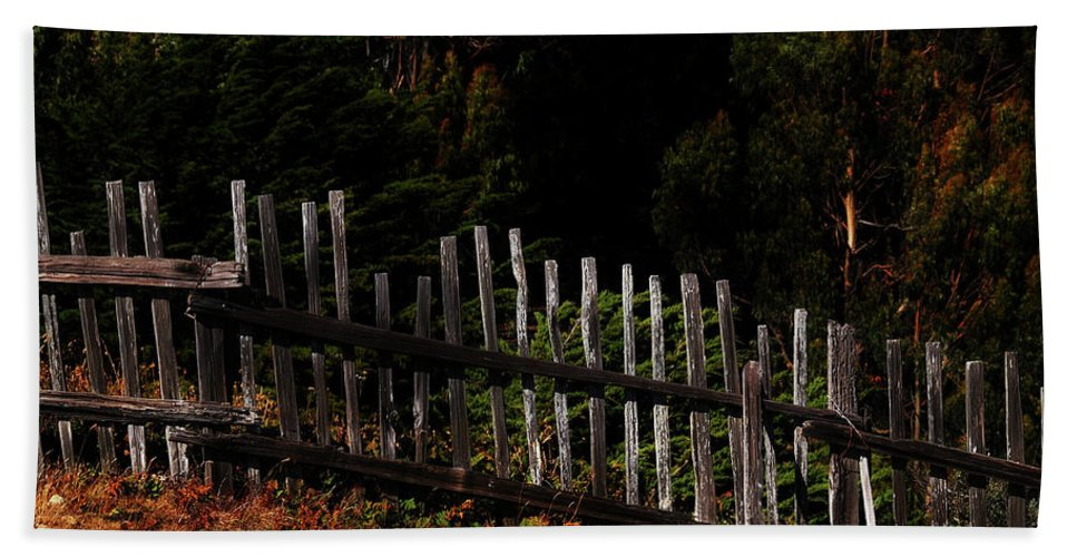Beach Towel featuring the photograph Fence Line by Toby Horton