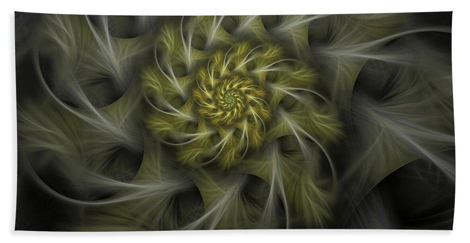 Apophysis Beach Towel featuring the digital art Flower Of Hope by Amorina Ashton