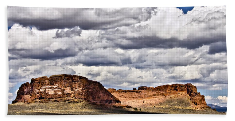 Fort Rock Beach Towel featuring the photograph Fort Rock by Albert Seger
