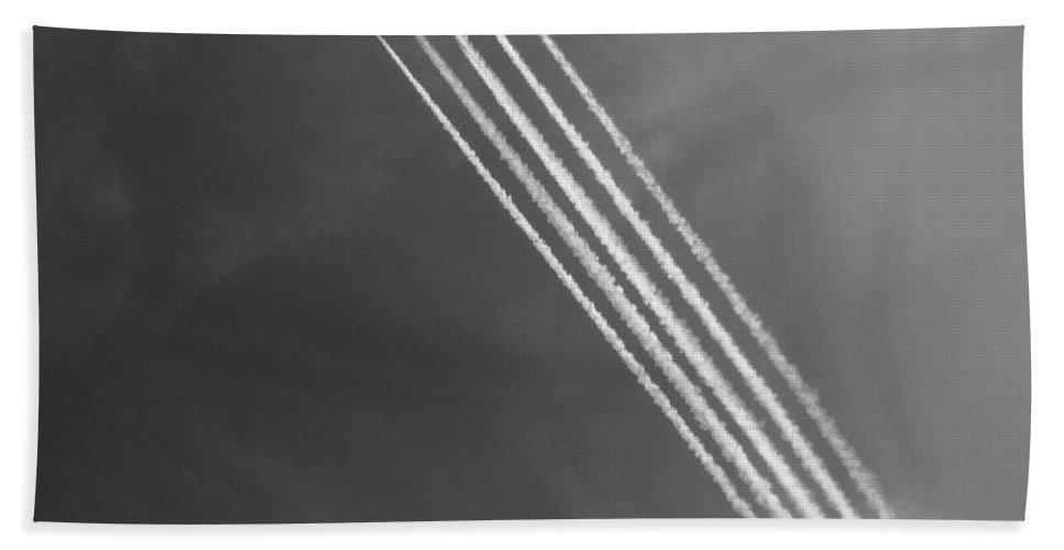 Frecce Tricolori Beach Towel featuring the photograph Frecce Tricolori by Ilaria Andreucci