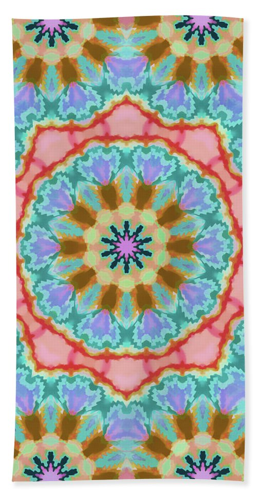 Mandala Art Beach Towel featuring the painting Future  by Jeelan Clark