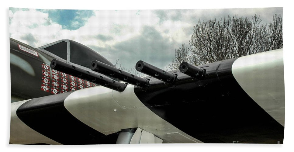Republic Beach Towel featuring the photograph Gabby's P-47 by Tommy Anderson