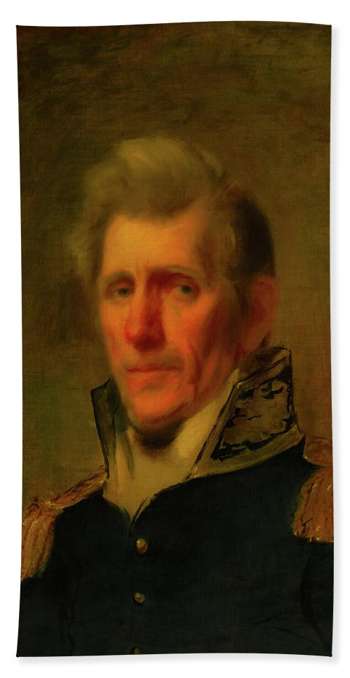 Painting Beach Towel featuring the painting General Andrew Jackson by Mountain Dreams