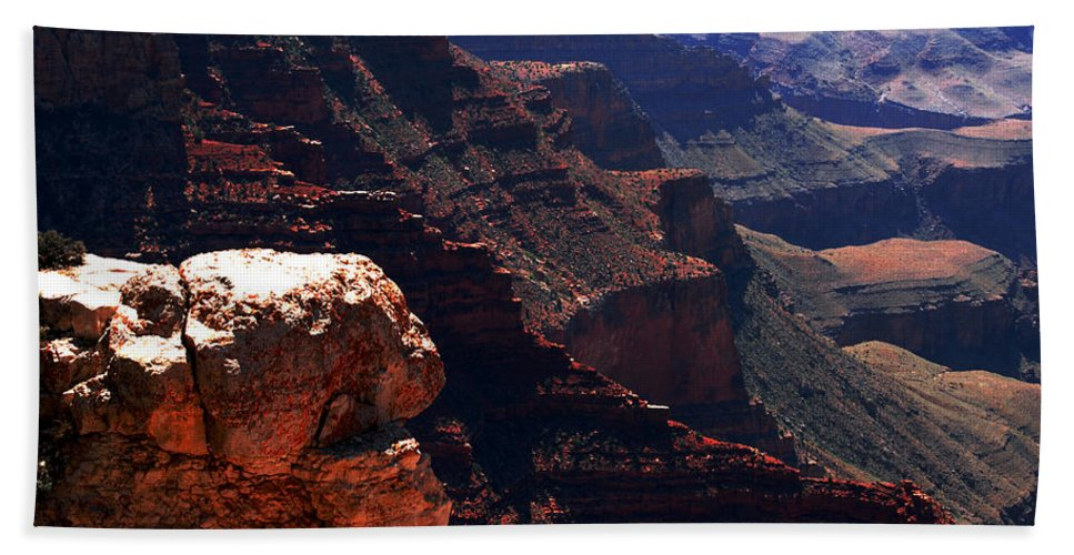 Grand Canyion Beach Towel featuring the photograph Grand Canyon View by Susanne Van Hulst