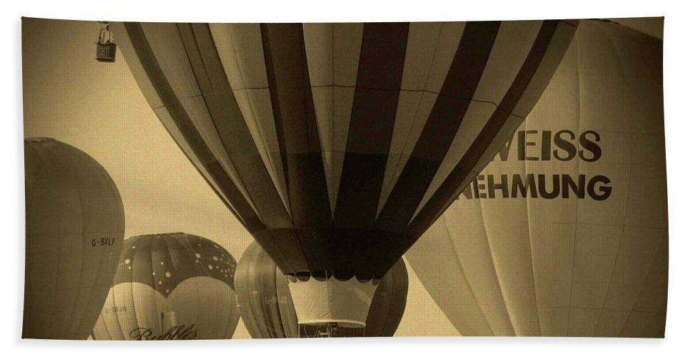 Hot Air Balloon Beach Towel featuring the photograph Hot Air Balloon by Ilaria Andreucci