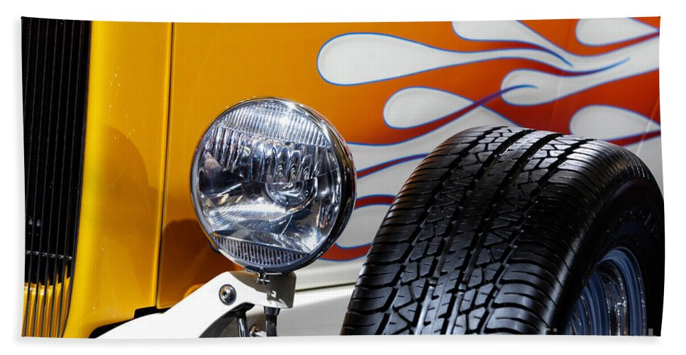 Hot Rod Beach Towel featuring the photograph Hot Rod Ford Hi-boy Coupe 1932 by Maxim Images Prints