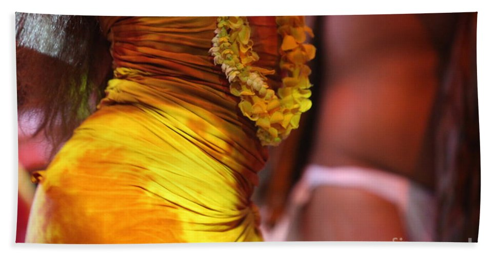 Dance Beach Towel featuring the photograph Hula Dancers by Nadine Rippelmeyer