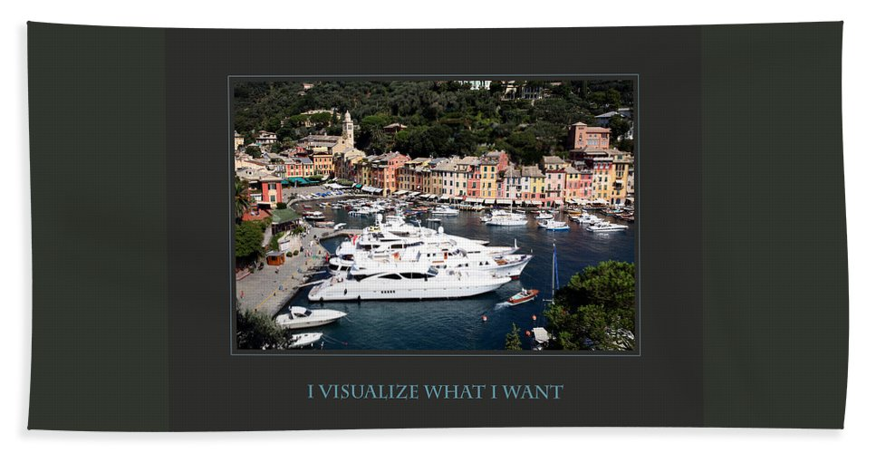 Motivational Beach Towel featuring the photograph I Visualize What I Want by Donna Corless