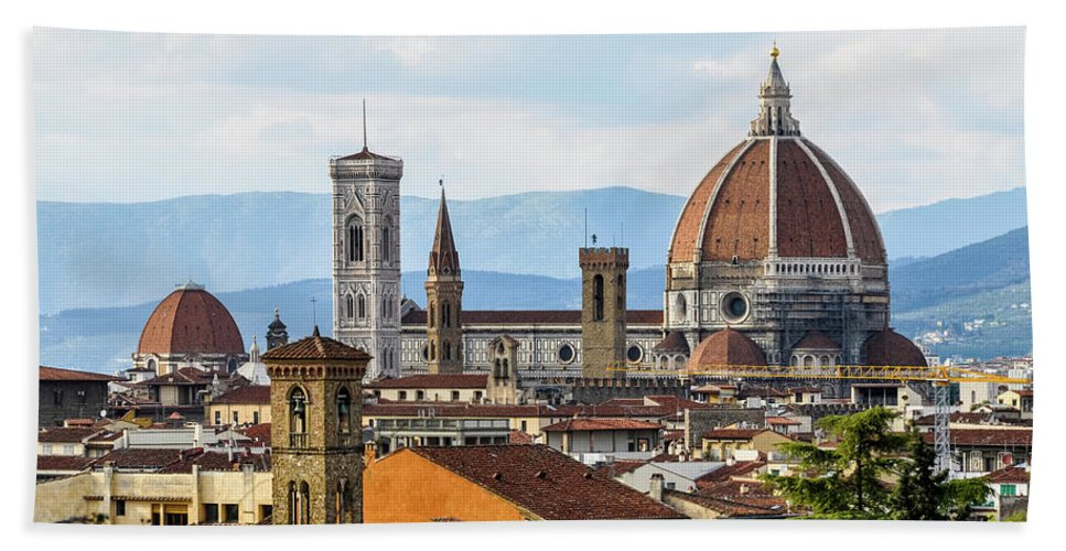 Tuscany Beach Towel featuring the photograph Il Duomo In Florence by Dutourdumonde Photography