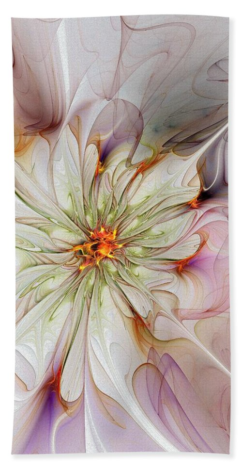 Digital Art Beach Towel featuring the digital art In Full Bloom by Amanda Moore