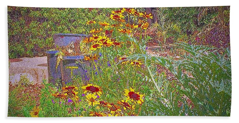 Floral Beach Towel featuring the photograph In The Garden by Judith Kitzes