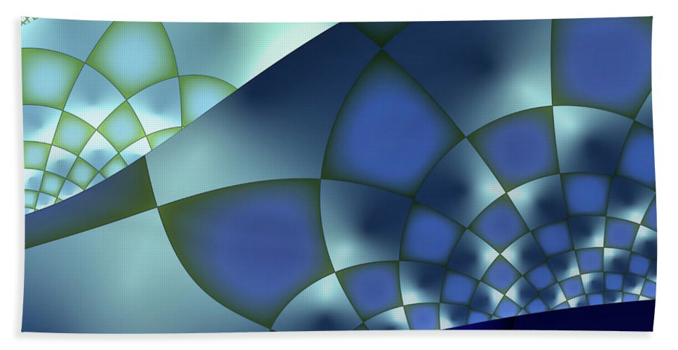 Fractal Beach Towel featuring the digital art Into The Light by Jutta Maria Pusl