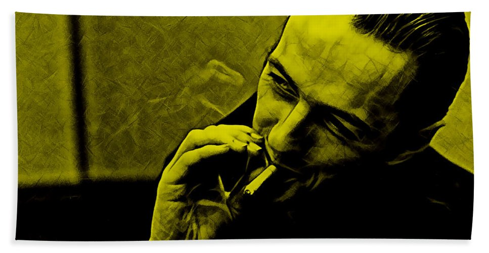 Joe Strummer Beach Towel featuring the mixed media Joe Strummer Collection by Marvin Blaine