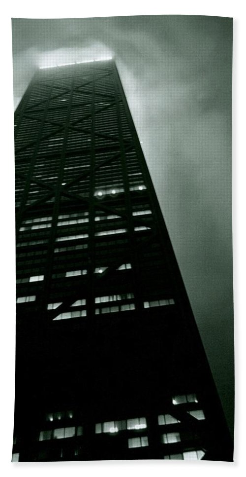 Geometric Beach Towel featuring the photograph John Hancock Building - Chicago Illinois by Michelle Calkins