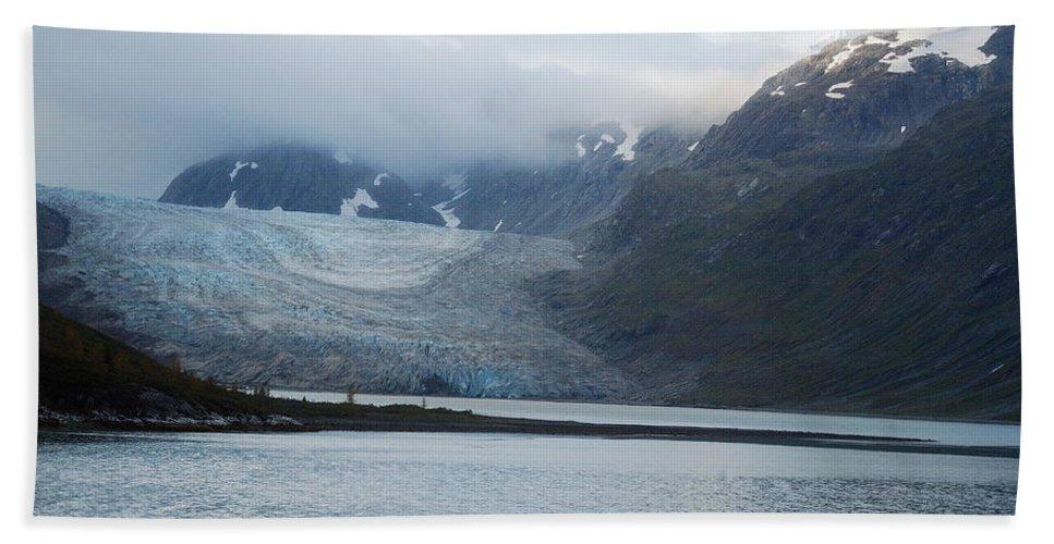 John Hopkins Beach Towel featuring the photograph John Hopkins Glacier by Michael Peychich
