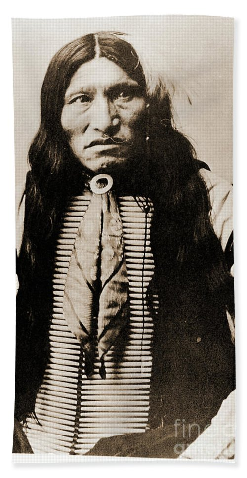 Native Beach Towel featuring the photograph Kicking Bear Indian Chief by Gary Wonning