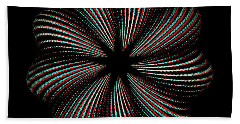 3d Beach Towel featuring the photograph Knotplot 9 - Use Red-cyan 3d Glasses by Brian Wallace