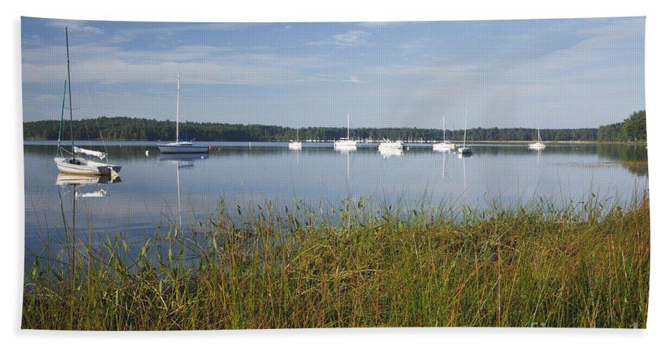 Lake Massabesic Beach Towel featuring the photograph Lake Massabesic - Auburn New Hampshire Usa by Erin Paul Donovan