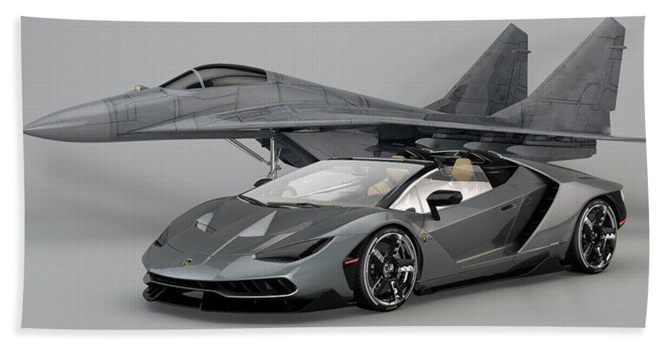 Lamborghini Centenario Roadster Beach Sheet For Sale By Louis Ferreira