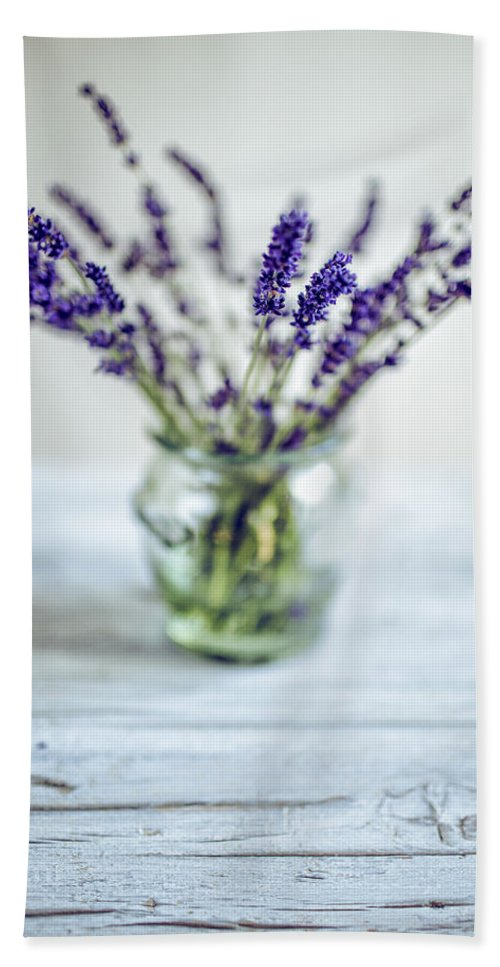 Lavender Beach Towel featuring the photograph Lavender Still Life by Nailia Schwarz