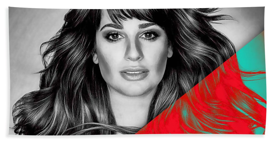 Lea Michele Beach Towel featuring the mixed media Lea Michele Collection by Marvin Blaine