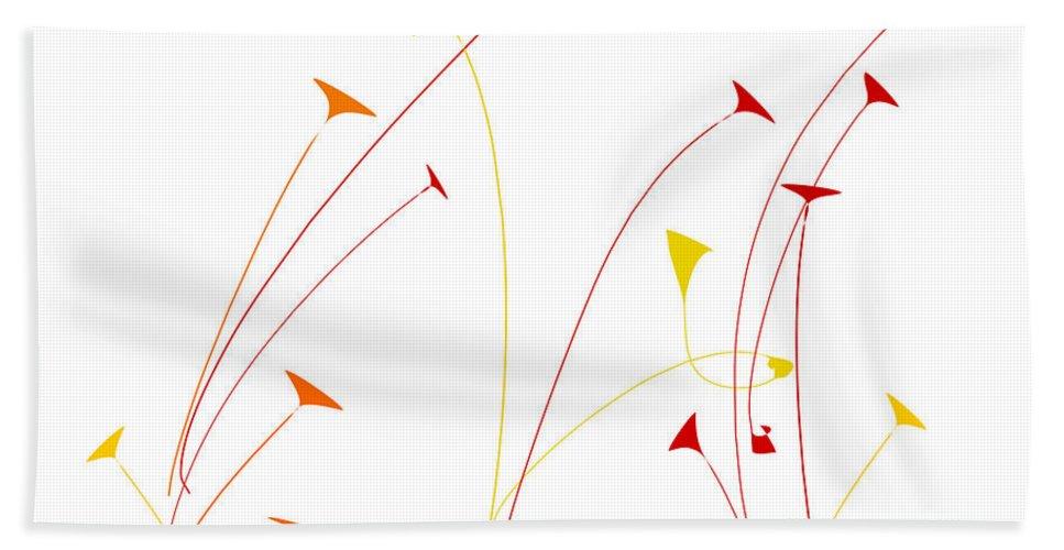 Beach Towel featuring the digital art Lotus Garden by Derrick Green