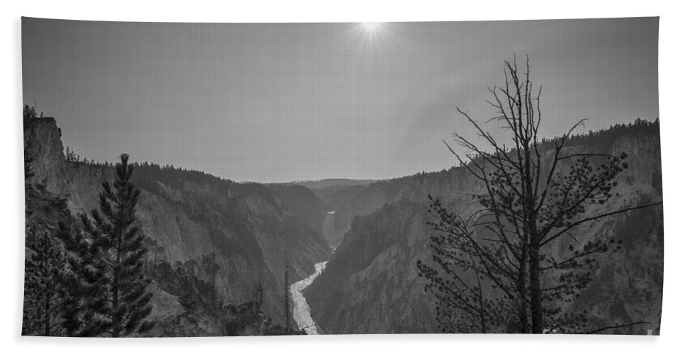 Yellowstone Beach Towel featuring the photograph Lower Yellowstone Falls by Michael Ver Sprill