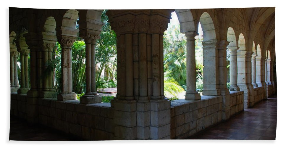 Architecture Beach Towel featuring the photograph Miami Monastery by Rob Hans