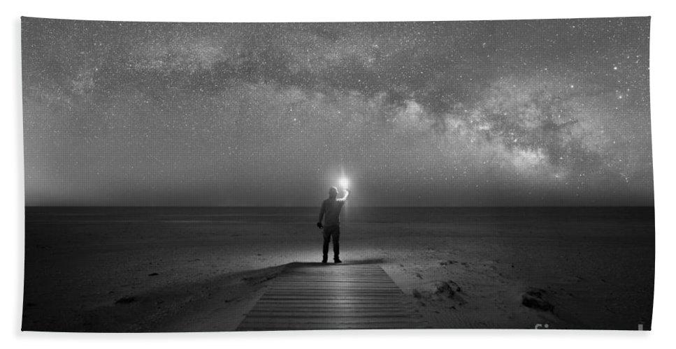 Midnight Explorer Beach Towel featuring the photograph Midnight Explorer At Assateague Island by Michael Ver Sprill