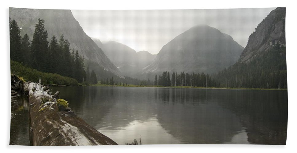 Alaska Beach Towel featuring the photograph Misty Fjord 2 by Michael Peychich