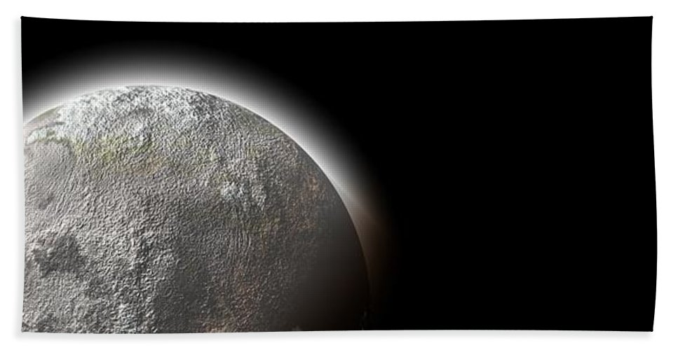 Moon Beach Towel featuring the photograph Moon by FL collection