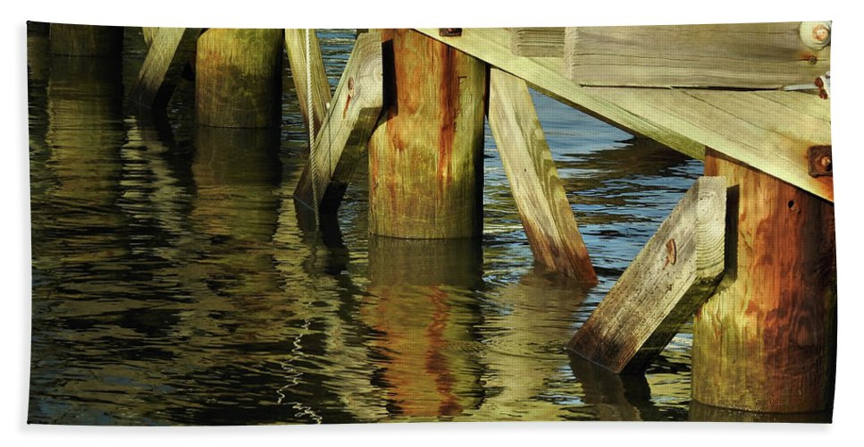 Water Beach Towel featuring the photograph Morning Reflections by Laura Ragland