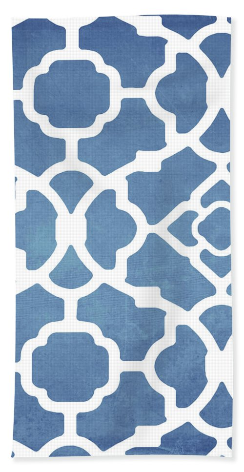 Moroccan Blues Beach Towel